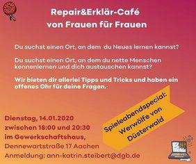 Frauen bei Repair&Erklär-Café