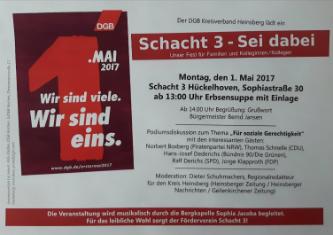 Einladung 1. Mai in Heinsberg-Hückelhoven