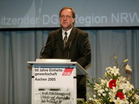 Begrüßung DGB-Regionsvorsitzender Heinz Kaulen