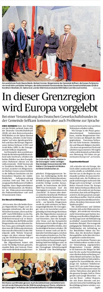 Artikel Heinsberger Zeitung
