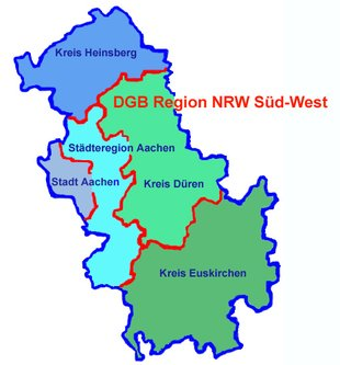 Regionskarte NRW Süd-West