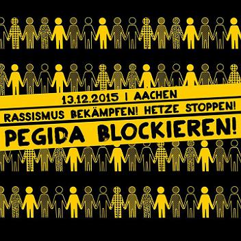 Pegida Blockieren