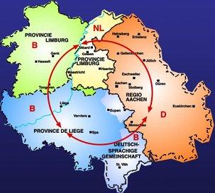 Karte Euregio Rhein-Maas
