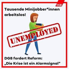 Minijobberin ohne Arbeit