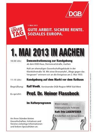 Maiveranstaltung 2013 Aachen