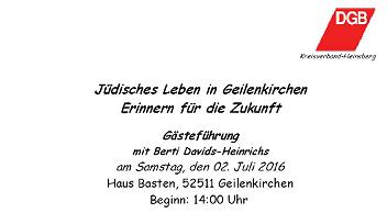 Jüdischen Leben in Geilenkirchen