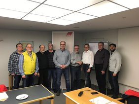 Lothar Bildhauer, Günther Fronrath, Heinz Mai, Heino Hamel, Jürgen Seidler, Willi Klaßen, Thomas Schnelle (MdL), Wilfried Benz und Thomas Hartmann