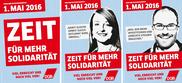 """Auswahl zur Plakatserie 1. Mai 2016 """"ZEIT FÜR MEHR SOLIDARITÄT"""""""